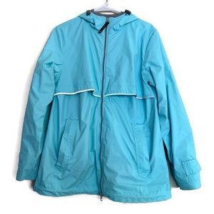 Charles River rain jacket windbreaker Tiffany blue